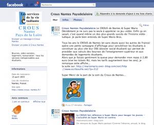 le CROUS de Nantes publie Ecribouille sur son mur Facebook