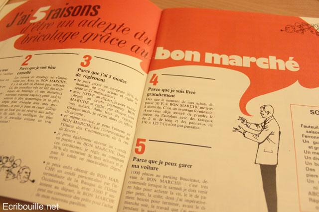 un catalogue vintage 1971 bricolage maison le bon march rue de s vres. Black Bedroom Furniture Sets. Home Design Ideas
