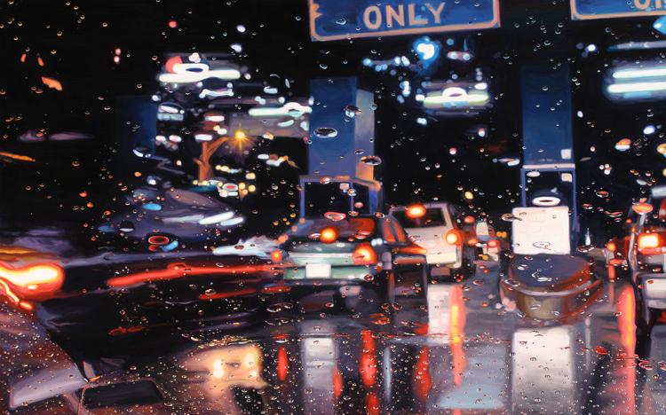 Huile sur toile de Gregory Thiekler, Cash Only