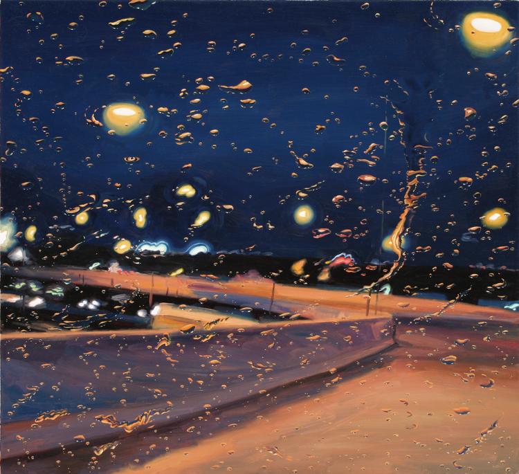 Huile sur toile de Gregory Thiekler, Logan Ramp