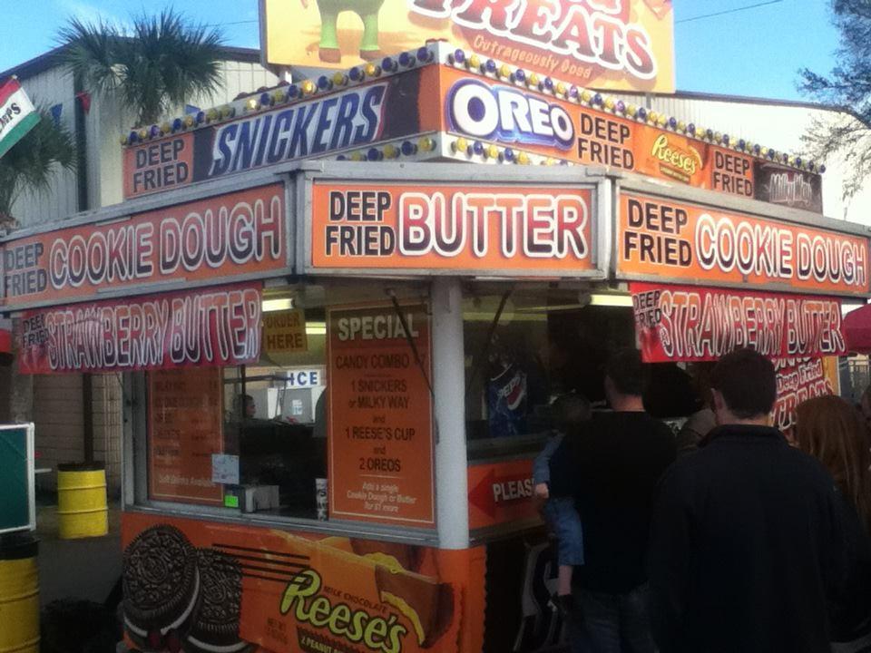 Beurre frit, oreo frit, crème glacé frit... vous avez le choix !
