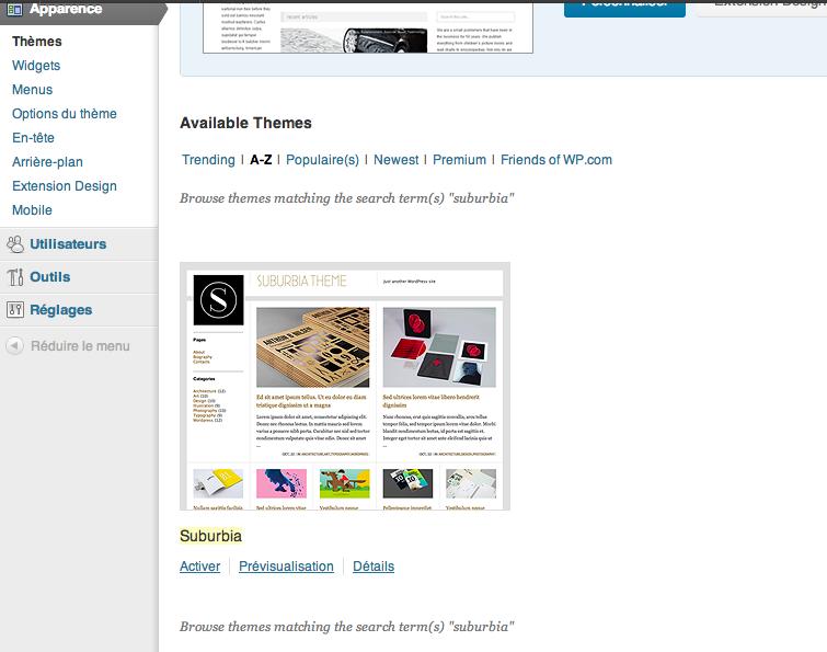 suburbia a été trouvé dans le catalogue de WordPress.com