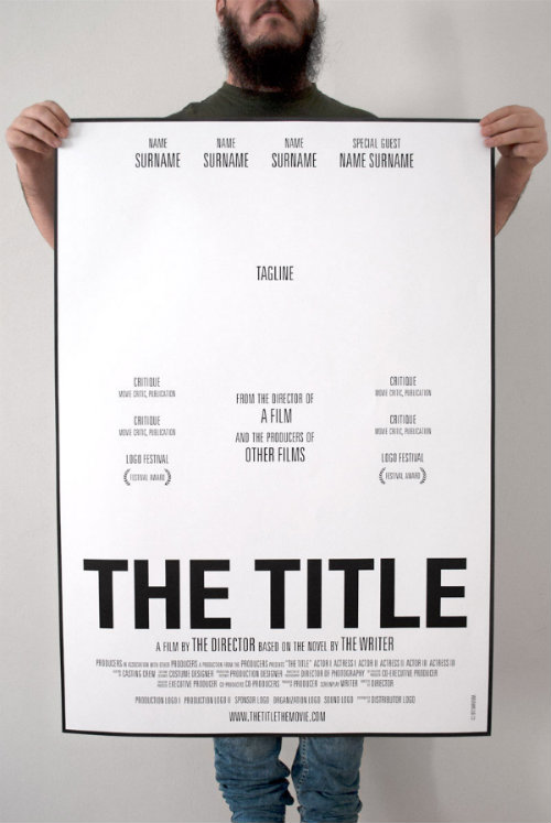 Projet d'affiche The Title
