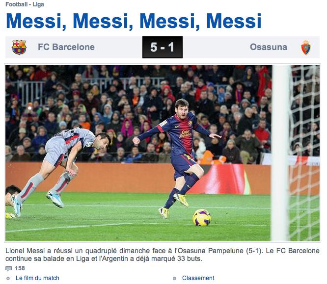 Une de Eurosport.fr