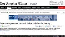 Des photos interactives dans Los Angeles Times pour les 1 an du tsunami japonais