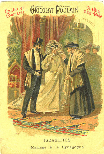 Publicité Poulain présentant un mariage juif - source