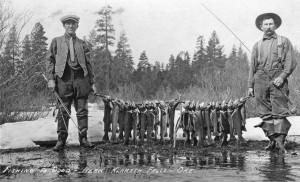 Une partie de pêche dans l'Oregon,
