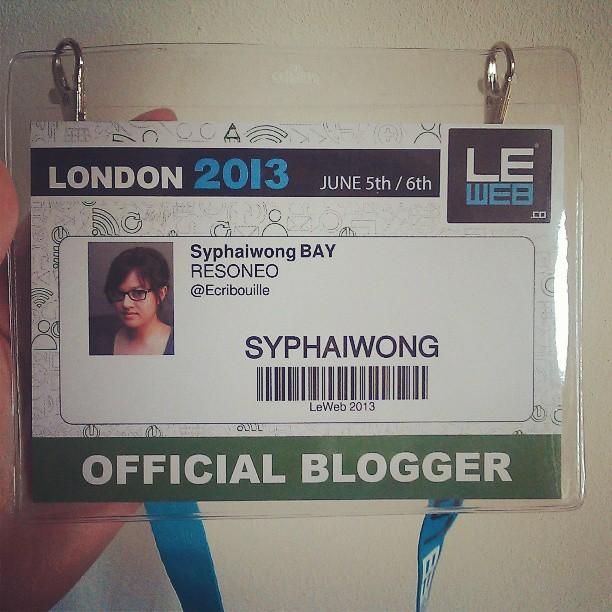Mon badge londonien