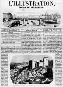 « La ville et le château de Falaise (berceau de Guillaume le Conquérant, d'après un épreuve photographiée de M. de Brébisson) », L'Illustration, n°453, 1er nov. 1851, coll. part.