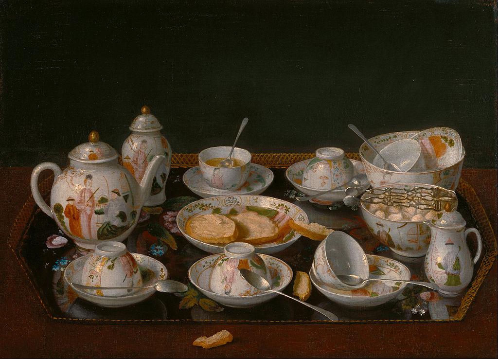 Jean-Étienne Liotard, Nature morte d'un service à thé, huile sur toile, 378x16 mm, 1781-1783, The J. Paul Getty Museum