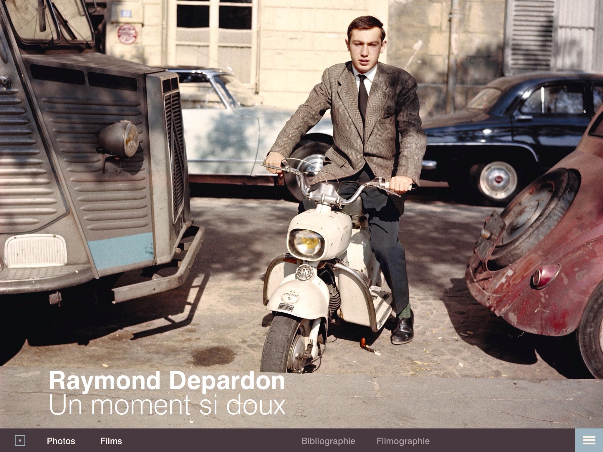 Application iPad Raymond Depardon, un moment si doux