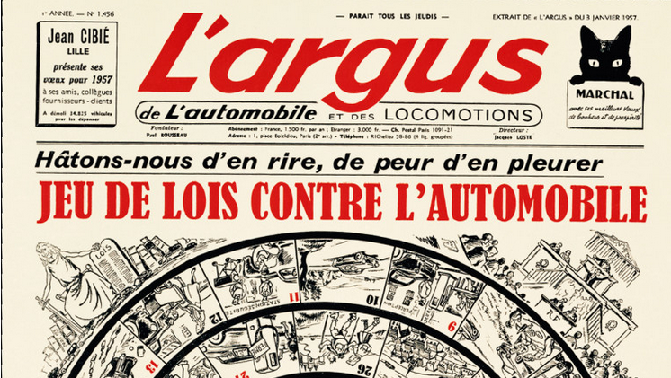Voeux de la presse : Le pessimisme de 1957 dans le jeu de lois contre l'automobile