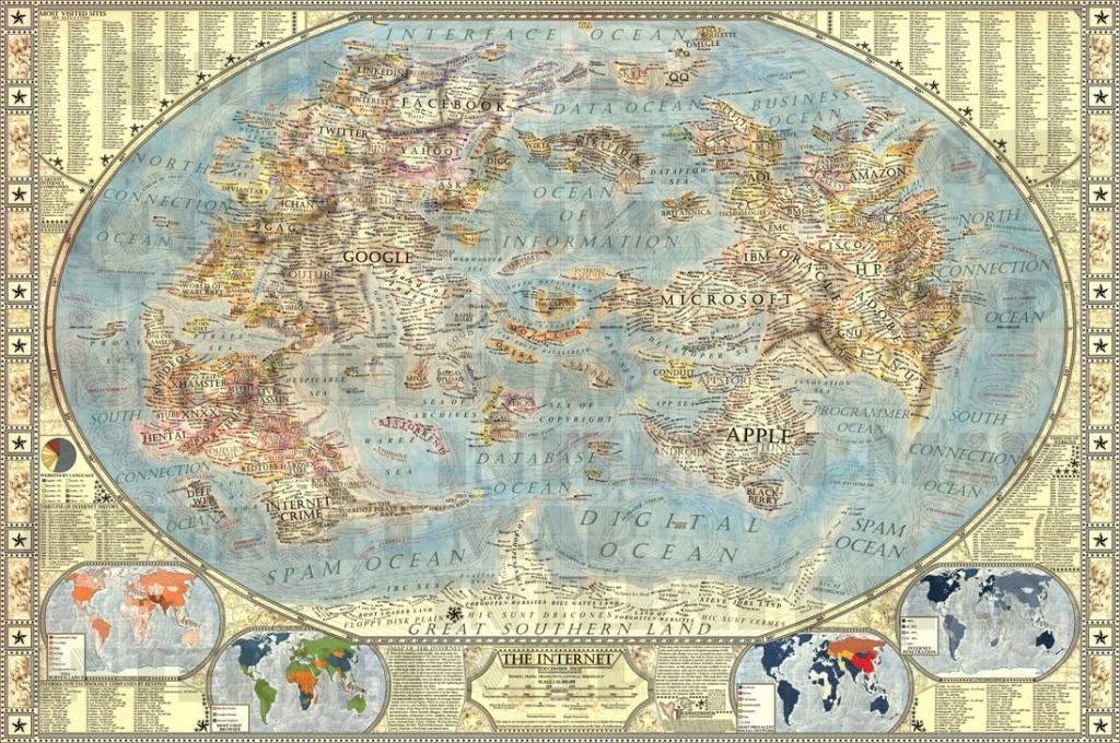 Carte de l'Internet