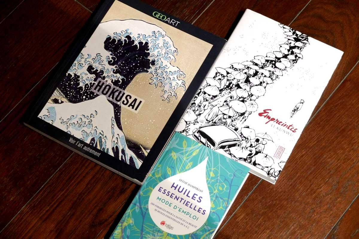 Huiles essentielles, Hokusai, et Li Kunwu, les lectures de février