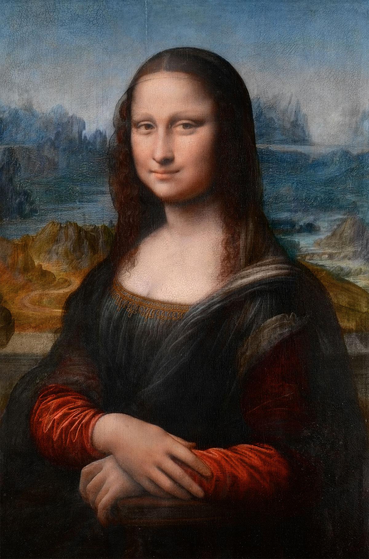 Toucher Mona Lisa du doigt