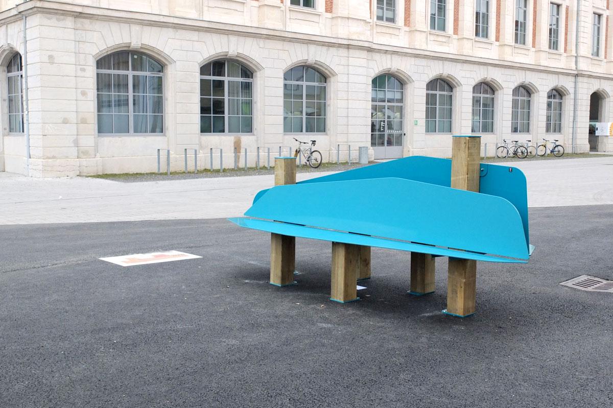 Les bancs d'essai de la 9e biennale internationale design de Saint-Etienne