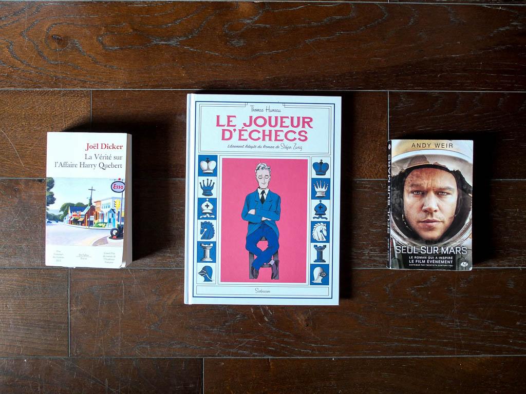 Mes dernières lectures : meurtre, folie, et conquête spatiale