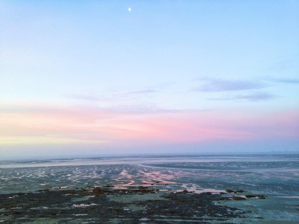 Le premier lever de soleil de 2016, dans la Baie de Somme.