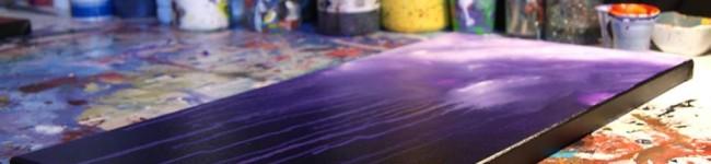 Interview d'Anthony Chambaud et ses peintures abstraites