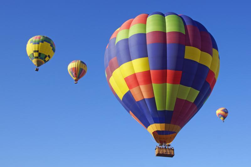 Hot Air Balloons Float over California
