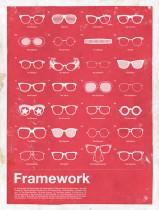 Des posters graphiques et pleins de références
