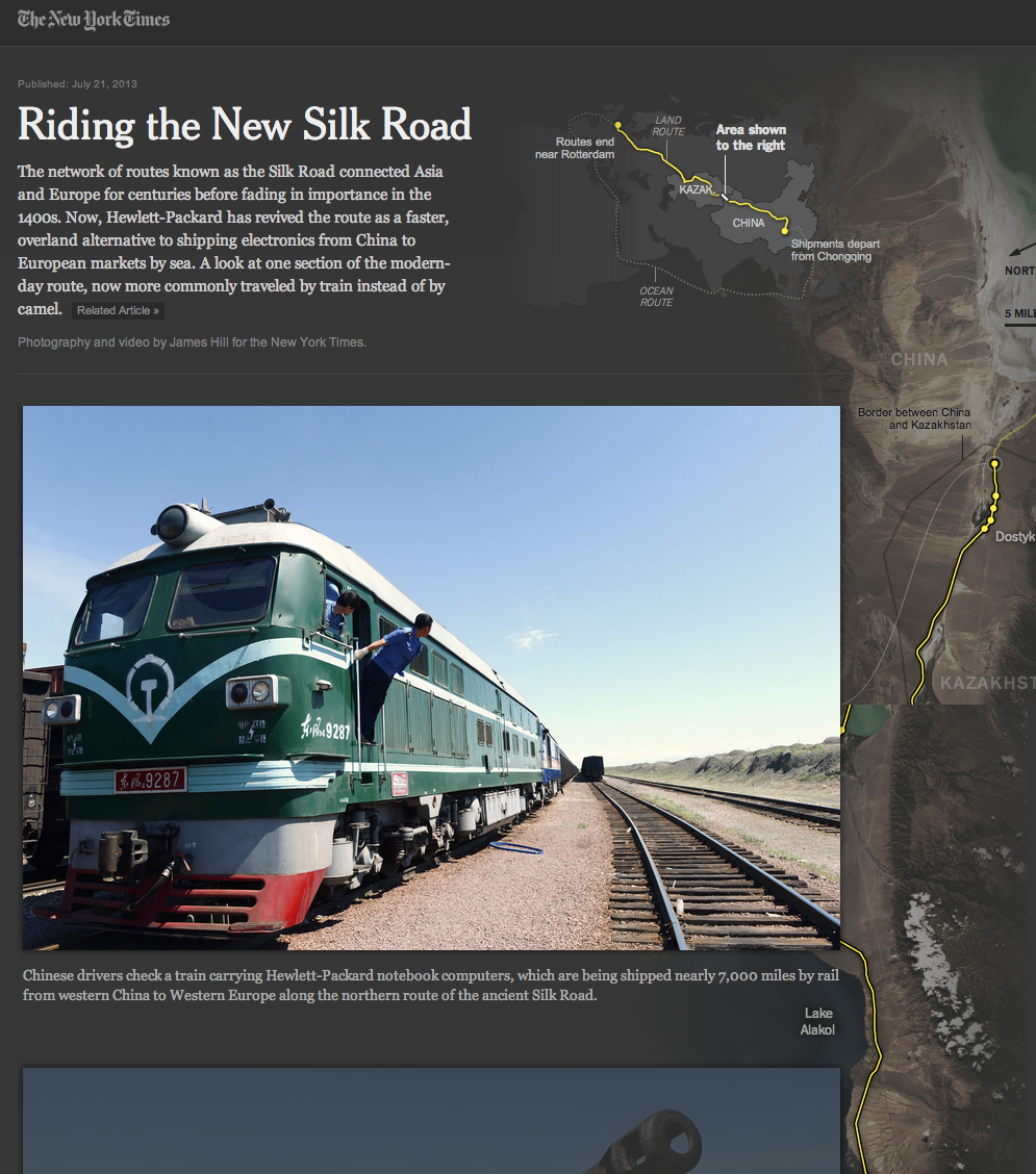 Riding the New Silk Road par le NY Times