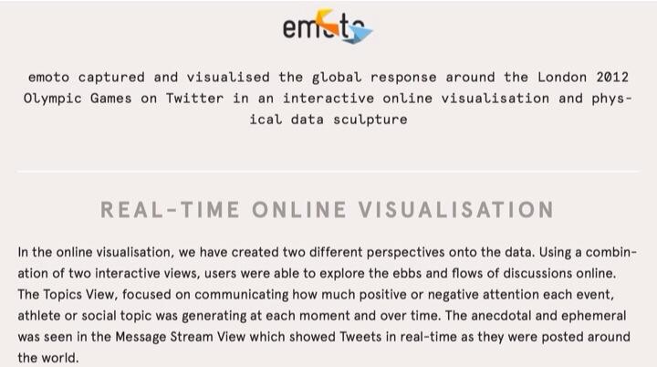 Emoto Project va de la data vizualisation à la performance offline