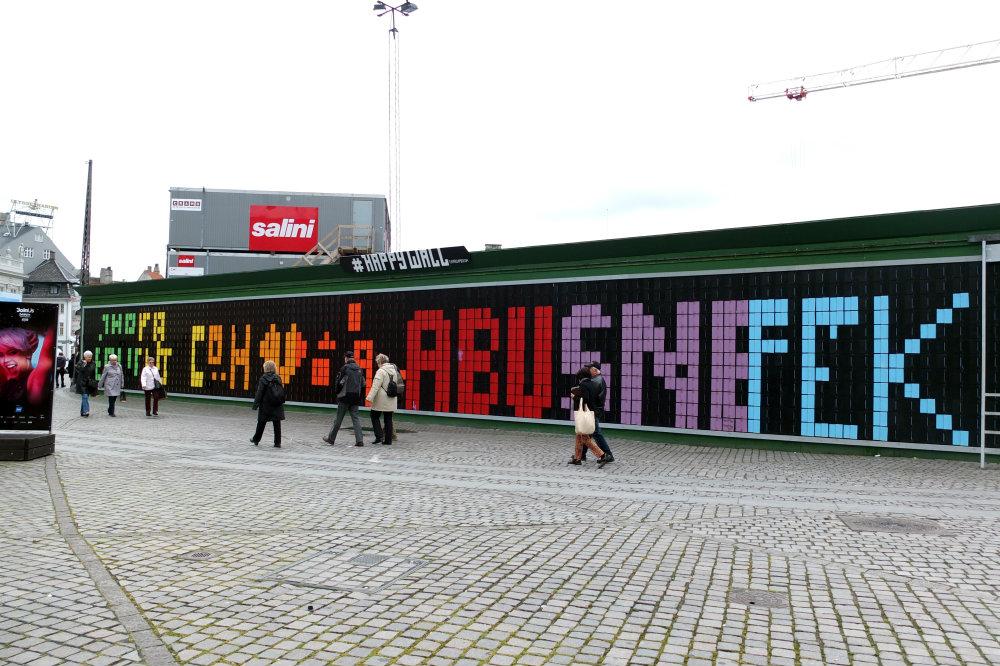 CPH : Le happy wall de Kongens Nytorv